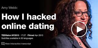 TED TALK- Amy Webb HOw hacked online dating